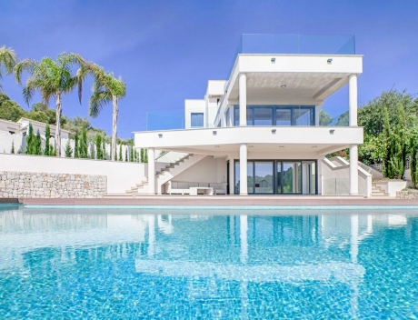 CHFi299: Modern first sea line new build villa for sale in Benissa, with beach access - Main