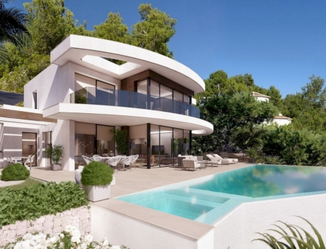 CHFi782: New build villa with panoramic sea views for sale in Moraira - Main