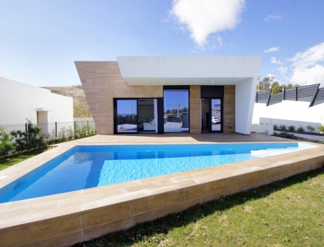 CHFi711: Modern new build villa with sea views in Sierra Cortina for sale, Finestrat, Costa Blanca. - Main