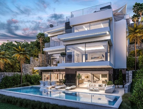 CHFi786: Modern luxury villa for sale in 1st sea line in Javea Spain - Main